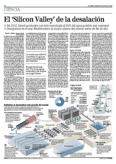 EL MUNDO - 12 Julio 2009 - El Silicon Valley de la desalación