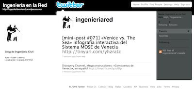 Ingenieria en la Red - Twitter