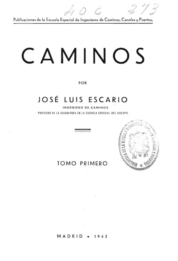 Caminos, José Luis Escario