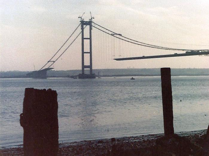 Puente Humber en construccion