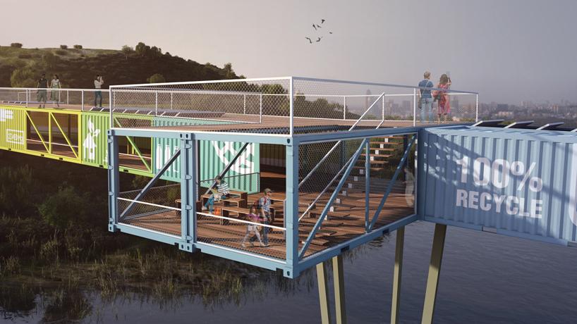 Reutilizaci n de contenedores mar timos en puentes y for Containers habitables