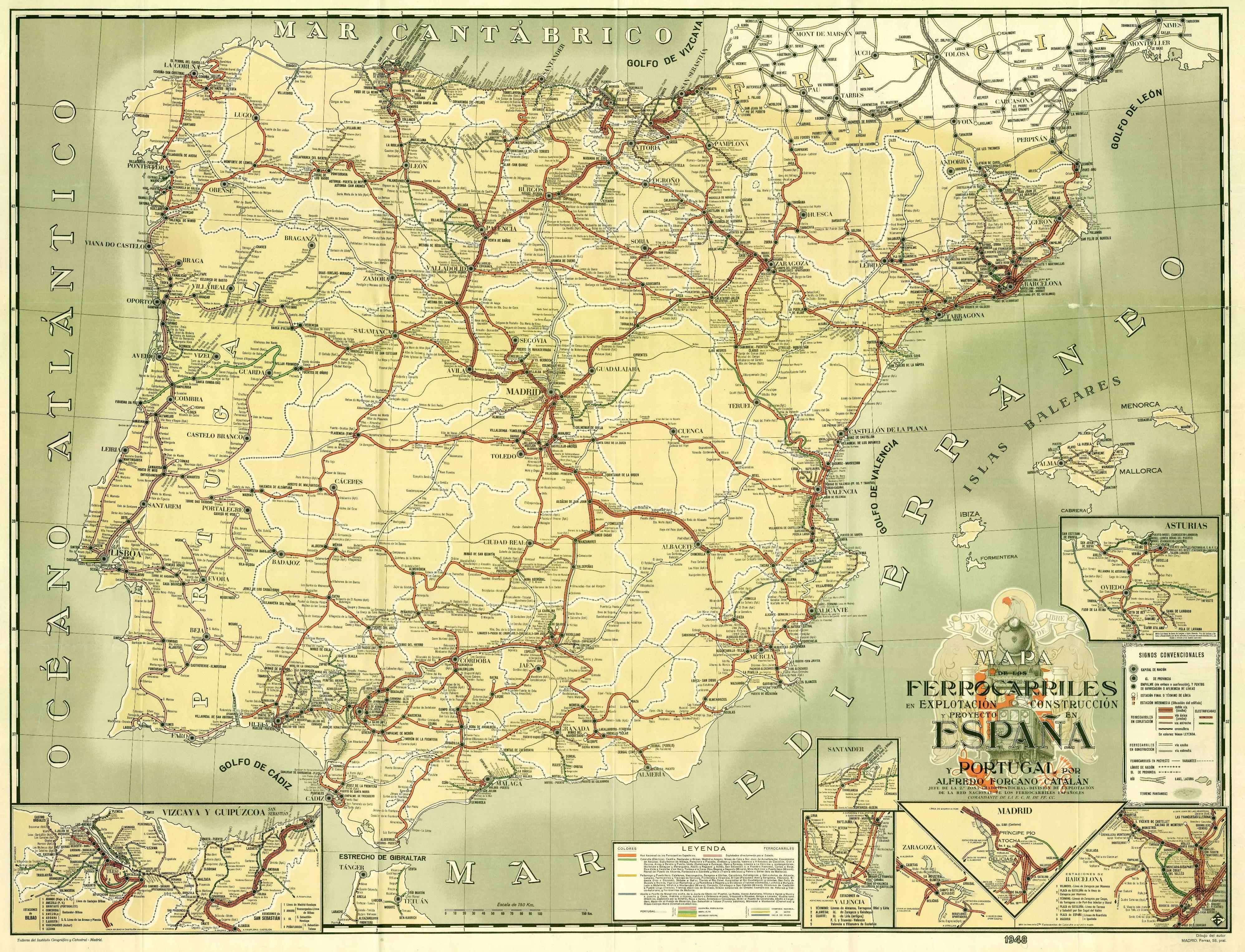 El Ferrocarril a Catalunya Ingenieria-en-la-red-mapa-forcano-1948