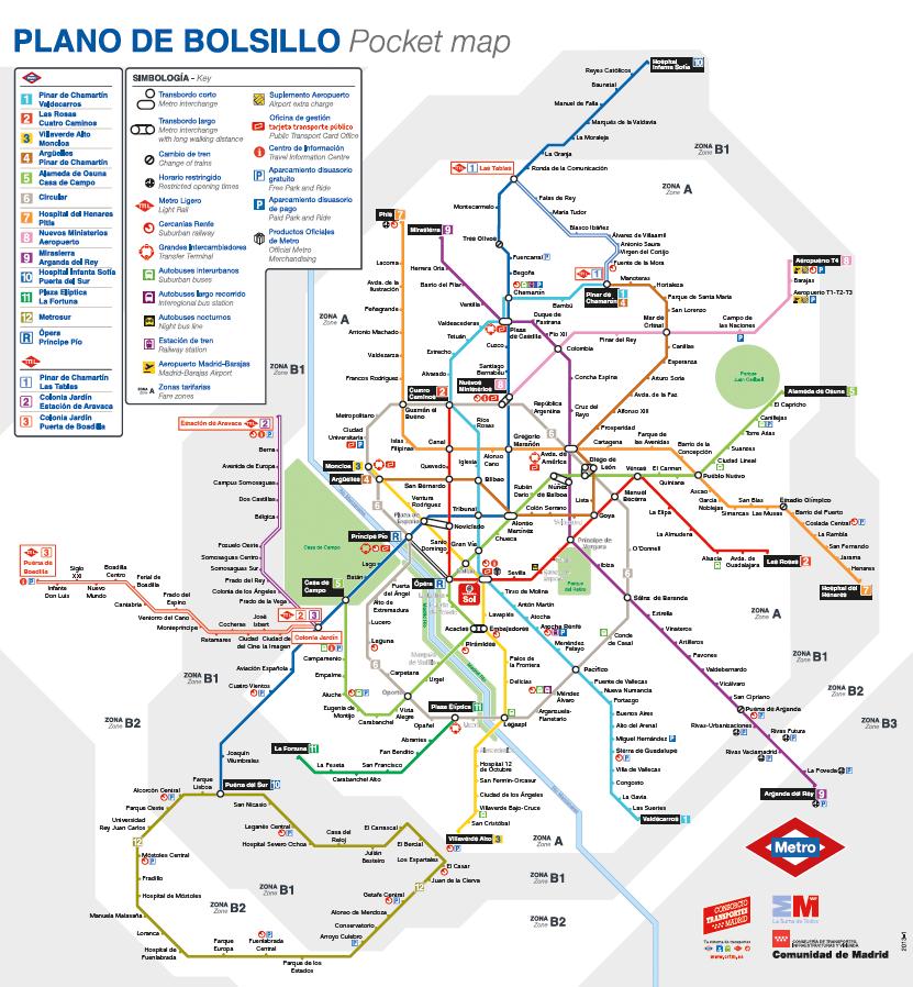 Mapa del Metro de Madrid o el fracaso de eliminar las lneas a 45