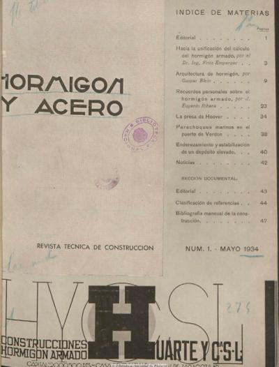 Ingenieria en la Red - Hormigon y Acero Eduardo Torroja 1934 26 numeros