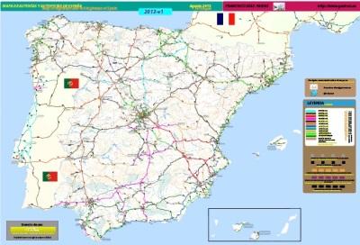 Ingenieria en la Red - Mapa Autovias España